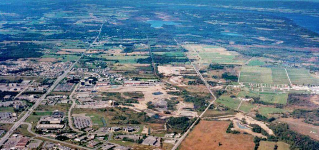 Aerial view of Kanata North